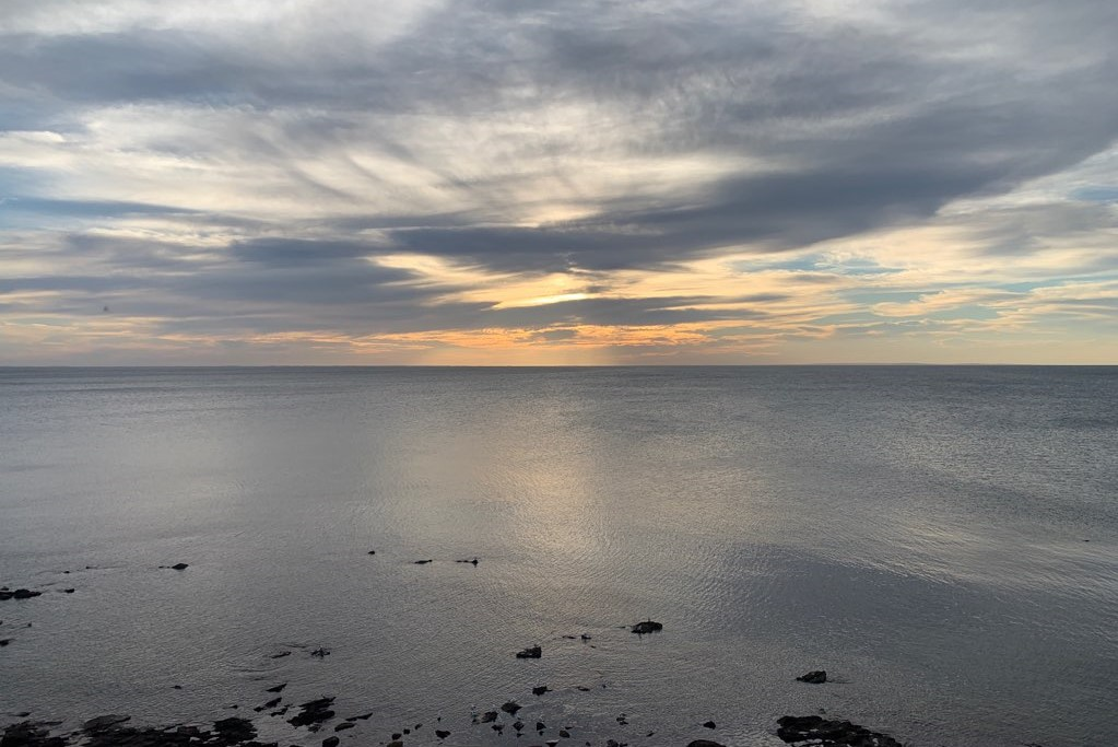 Sunset over Port Phillip Bay from Mornington