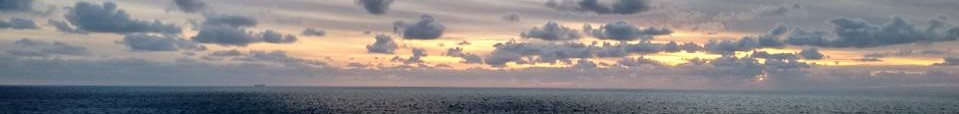 Ocean and clouds over Port Phillip Bay from Mornington