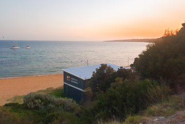 Mornington Sea Scouts building at sunrise