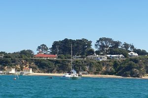 View of Shelly Beach in Portsea from Port Phillip Bay